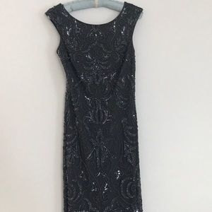Adrianna Papell sequin dress/ gown